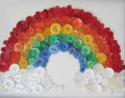 semi wordless wednesday as bright as a rainbow busted button