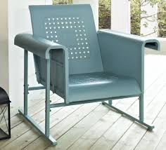 Retro Metal Garden Chairs by Magnificent Metal Glider Chair With Additional Interior Decor Home