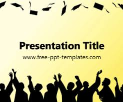 the free graduation powerpoint template is a yellow template with