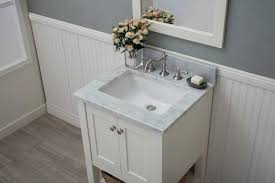 white shaker open shelf bathroom vanities assembled
