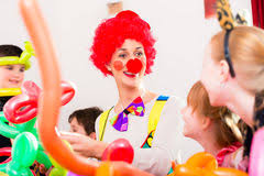 two cheerful clowns birthday children bright stock photo children and clown at birthday party stock image image of festive