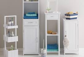 Freestanding Bathroom Furniture White Slim Bathroom Cabinet Storage Image Permalink Basin Bathroom