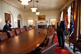 file barack obama touring in the cabinet room jpg wikimedia commons