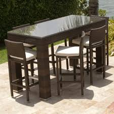 Patio Bar Height Tables Patio Bar Height Table And Chairs Set Archives Formabuona