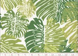 Home Decor Fabric Duralee Tropical Leaf Print Indoor Outdoor Upholstery Fabric