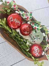 diy glitter ornaments refresh restyle