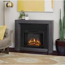 real flame hughes 42 in electric fireplace in gray 3001e gry