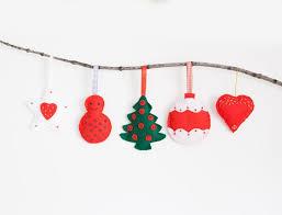 Felt Christmas Stocking Tree Decoration by 20 Felt Christmas Ornaments For A Festive Tree Dream Home Style