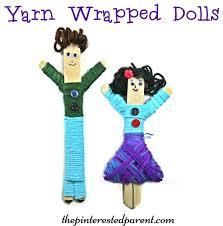 yarn wrapped craft stick dolls u2013 the pinterested parent