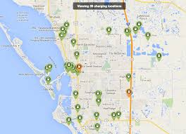 Florida City Map A Brief Comparison Of Ev Charging Availability City To City