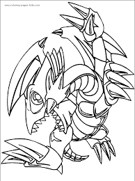 yu gi oh color page coloring pages for kids cartoon