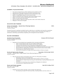 Sample Resume For Event Manager by Event Planner Resume Event Planner Resume Writing An Exceptional