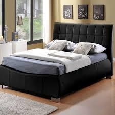 Faux Leather Bed Frames Limelight Dorado Faux Leather Bed Frame Black