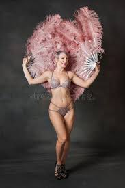 burlesque fans burlesque dancer with feather fans stock photo image of hair