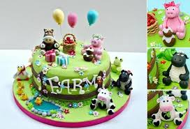 farm cake toppers baby animals cakes for ones cake magazine