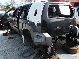 nissan armada salvage yard xterra carnage photos and other wrecked nissans in the junkyard