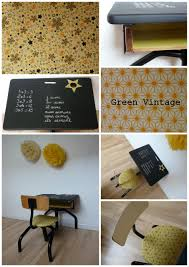 bureau écolier relooké bureau d écolier vintage décoré dans les tons de jaune le