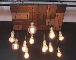 Chandelier With Edison Bulbs Urban Chic Chandelier With Exposed Bulbs Kitchen Lighting