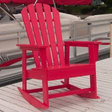 Recycled Plastic Rocking Chairs Plastic Adirondack Rocking Chairs Polywood South Recycled