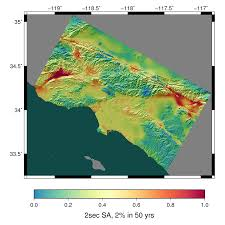 Seismic Risk Map Of The United States by Oak Ridge Leadership Computing Facility