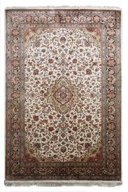 Kashmir Rugs Price Buy Kashmir Pure Silk Cream Persian Silk Rug Sm14 Navyasfashion