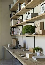 Office Desk Shelves Dual Workskpace Office Shelves Farmhouse Home Office Space