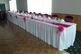 wedding table covers black white and fuchsia ceremony and reception linens devoted