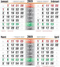 Kalender 2018 Hari Libur Toko Fadhil Template Kalender 2018 06 2018 06