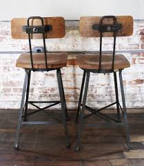 bar stools contemporary bar stools swivel wood and metal design
