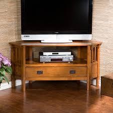 carson oak corner media stand