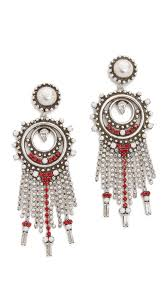 dannijo earrings lyst dannijo vitula earrings in white