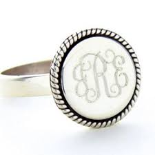 monogram rings silver braided silver monogram ring monograms sterling silver and ring