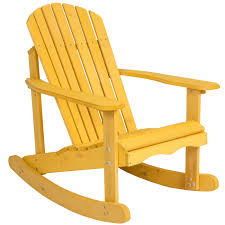 Rocking Chair Drawing Plan Outdoor Adirondack Rocking Chair Natural Fir Wood Deck Garden