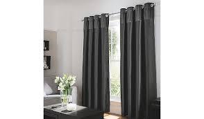 Silk Velvet Curtains Charcoal Faux Silk Curtains With Velvet Header W 90 X D 90
