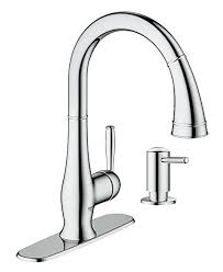 amazon grohe kitchen faucets grohe 30216000 wexford single handle pull spray kitchen