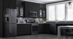Kitchen Explore Your Kitchen Appliance by These Samsung Black Stainless Steel Appliances Look Beautiful In