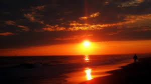 orange sunset manhattan linear