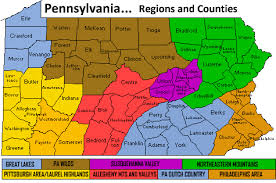map of counties in pa pennsylvania regional county map