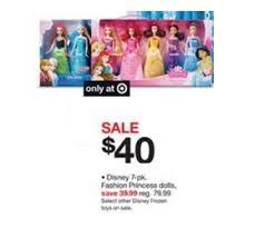 black friday deals target prices disney 7 pk fashion princess dolls deal at target black friday sale