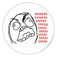Rage Face Meme - rage face stickers zazzle