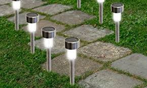 Solar Powered Landscape Lights Solarek Water Resistant Stainless Steel Led Solar Garden Path