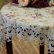 Shabby Chic Tablecloth by Lace Tablecloth