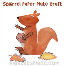 Monkey Paper Plate Craft - squirrel crafts and activities