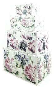 Chic Flower Chic Floral Flower Kids Bedroom Baby Nursery Storage Toy Box Chest