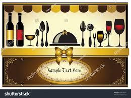 Classic Invitation Card Restaurant Menu Invitation Card Classic Background Stock Vector