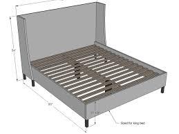 matress king size frame measurements pcd homes of in regarding