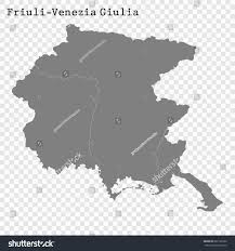 Provinces Of Italy Map High Quality Map Friulivenezia Giulia Region Stock Vector