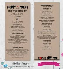 Rustic Wedding Program Template Wedding Program Template Wedding Program Printable We Do