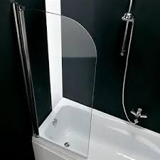 pannelli per vasca da bagno parete per vasca da bagno girevole sinistra 67 cm trasparente