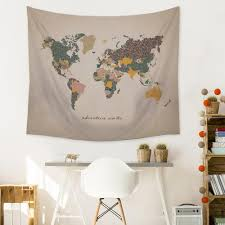 tapestry home decor stratton home decor adventure map wall tapestry s07749 the home